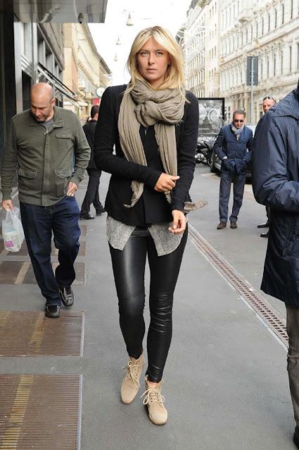 Maria Sharapova1 - 2013 K��: Deri Pantolon ve Tayt