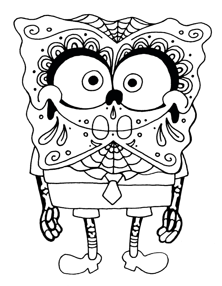 Sugar Skulls Coloring Pages on scary backgrounds for desktop