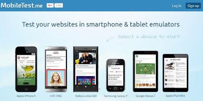 Cek tampilan blog di mobile