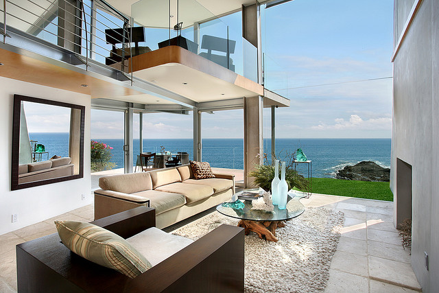 Photo of ocean view from the living room