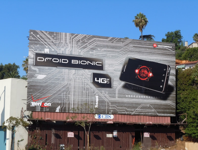 Droid Bionic billboard