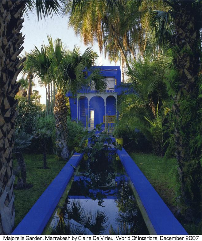 Pearlmodern gardens of dreams delight for Jardin yves saint laurent