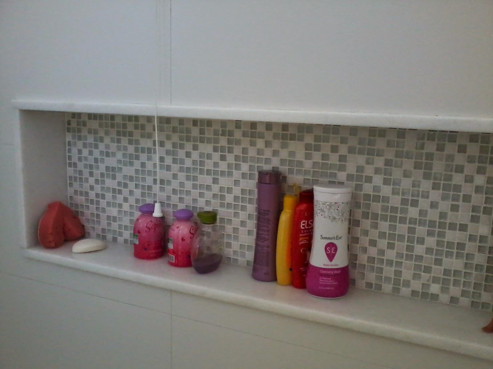 NICHO PARA SHAMPOO ~ Rachel Avellar Interiores -> Nicho Banheiro Altura