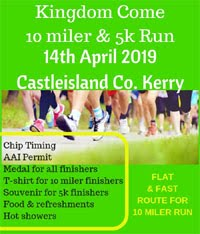 10 mile & 5k in Castleisland, Kerry on Sun 14th Apr 2019