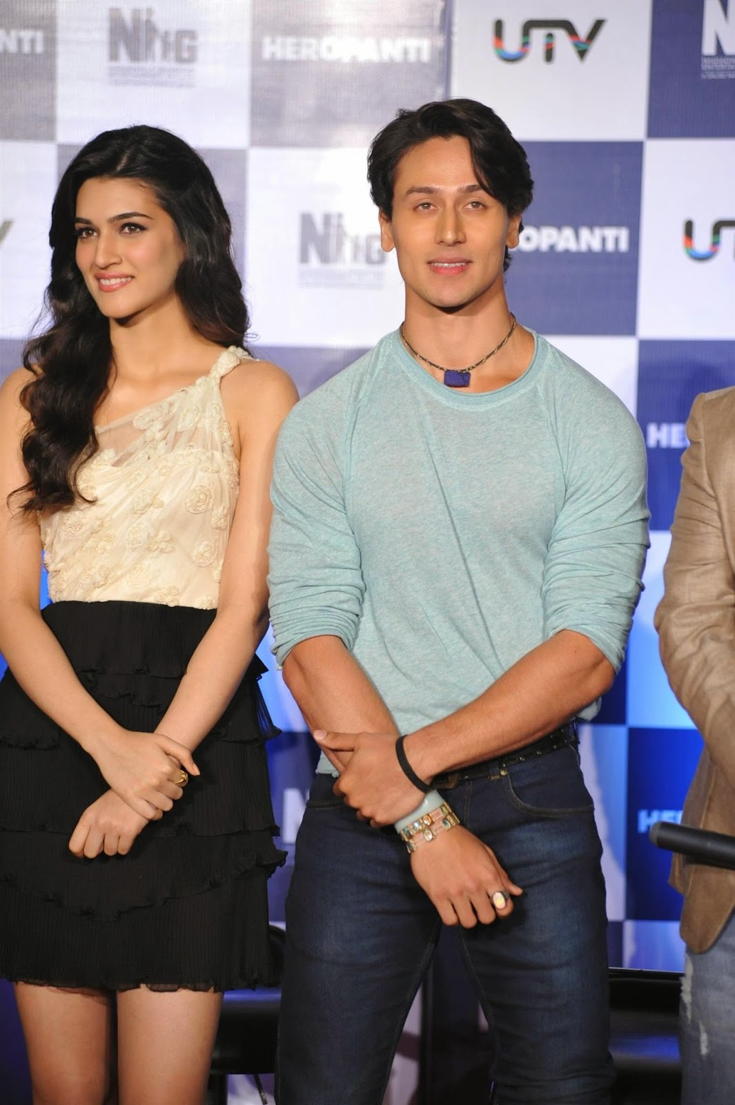 Kriti Sanon, Tiger Shroff at First Look Launch of Heropanti Movie