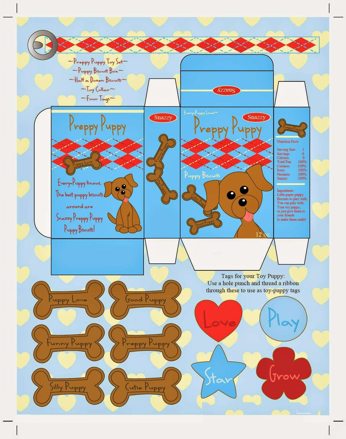 Funny Dog Free Printable Box.