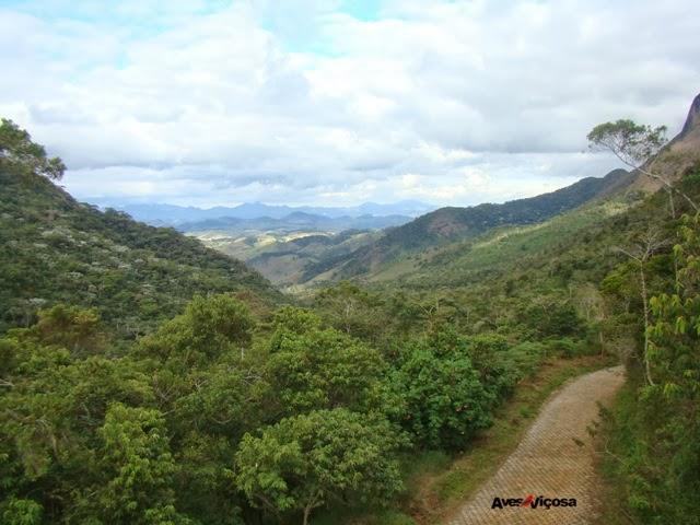 Vista da estrada que corta o Parque Serra do Brigadeiro. Foto: M.Eiterer