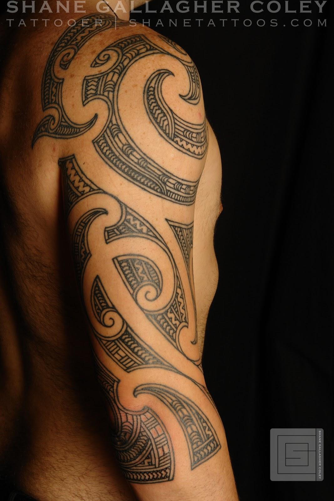 Maori polynesian tattoo maori 3 4 sleeve - Tattoo maorie bras ...