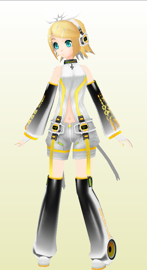 Kagamine Rin Paper MOdel Append Version