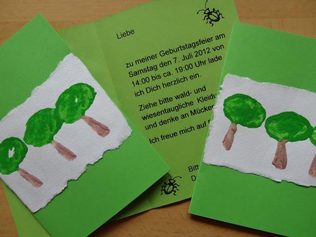Einladung Kindergeburtstag Natur U2013 Ledeclairage, Kreative Einladungen