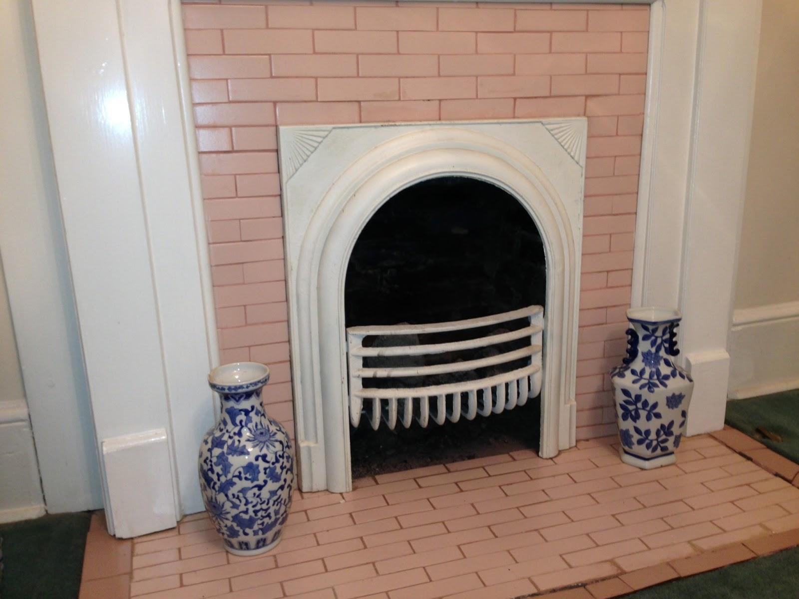 Victorian fireplace floor tiles