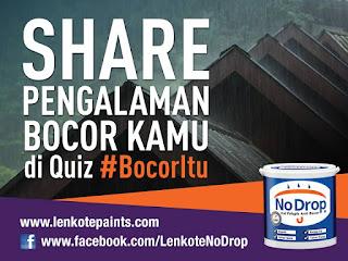 Info Kuis - Kuis No Drop #BocorItu Berhadiah Asus Zenfone2 dan Voucher Belanja Jutaan rupiah