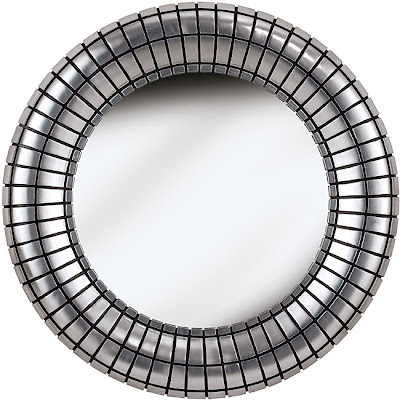 OVERSTOCK COEUS SILVER PLATE WALL MIRROR