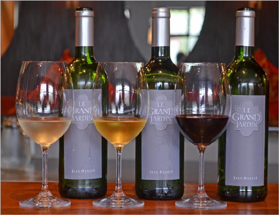 Jean daneel 39 s le grand jardin launch at la mouette for Grand jardin wine