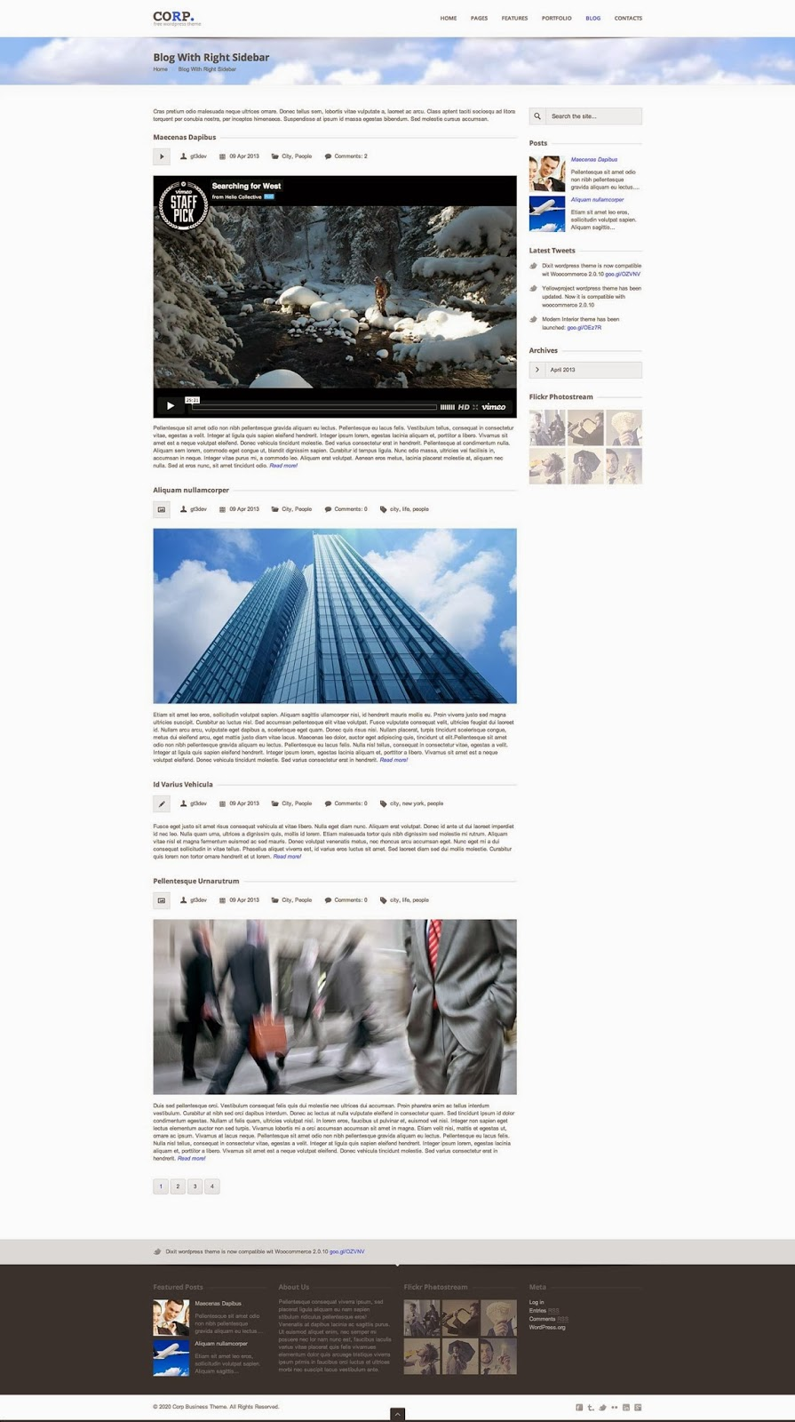 CORP responsive WordPress theme
