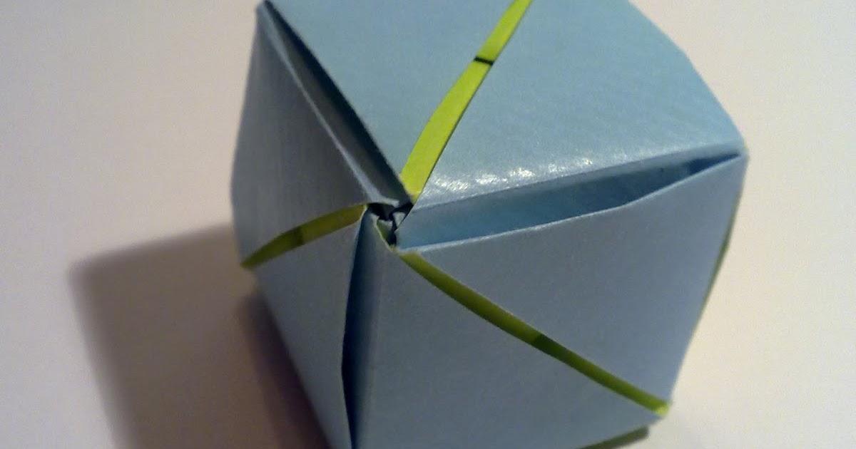 paperblog origami magic rose cube