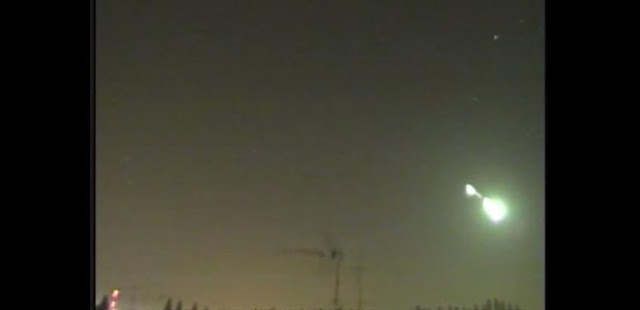 The unexplained flash was seen across the north east of Italy. Screenshot: YouTube