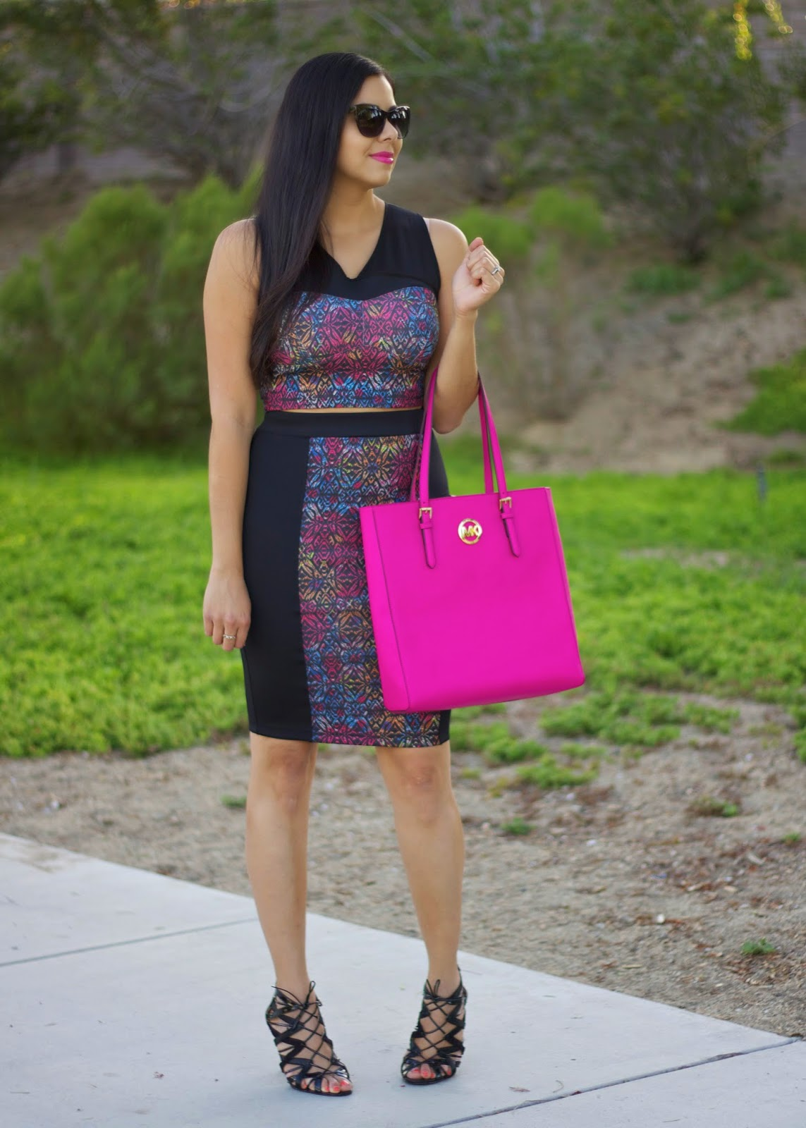 Matching crop top and pencil skirt, lace up heels with pencil skirt, san diego fashion blogger, san diego style blogger, best of san diego street style