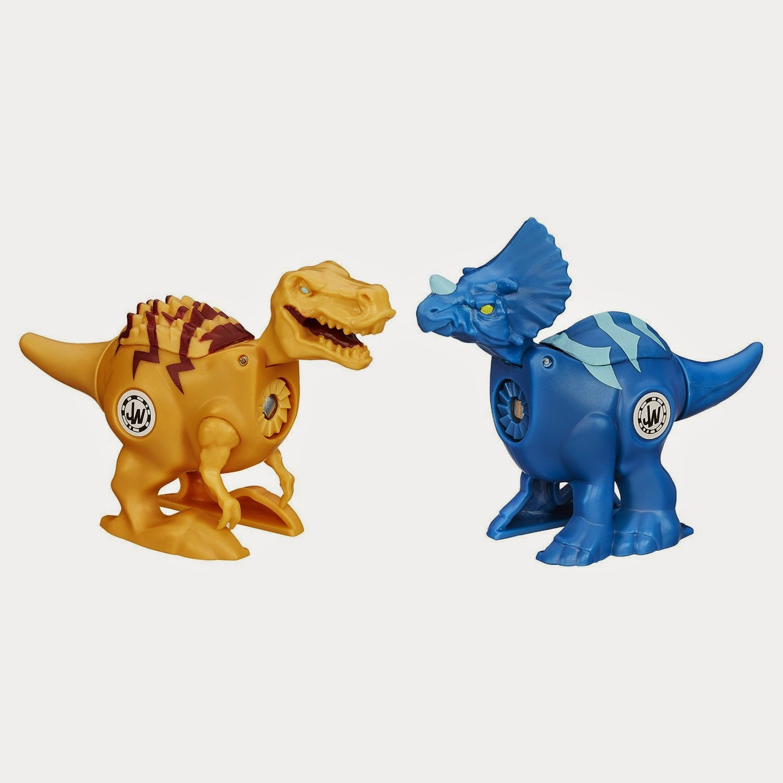 JUGUETES - JURASSIC WORLD : Brawlasaurs  Tyrannosaurus Rex vs. Triceratops Toys | Producto Oficial Película 2015 | Hasbro B1152 A partir de 4 años
