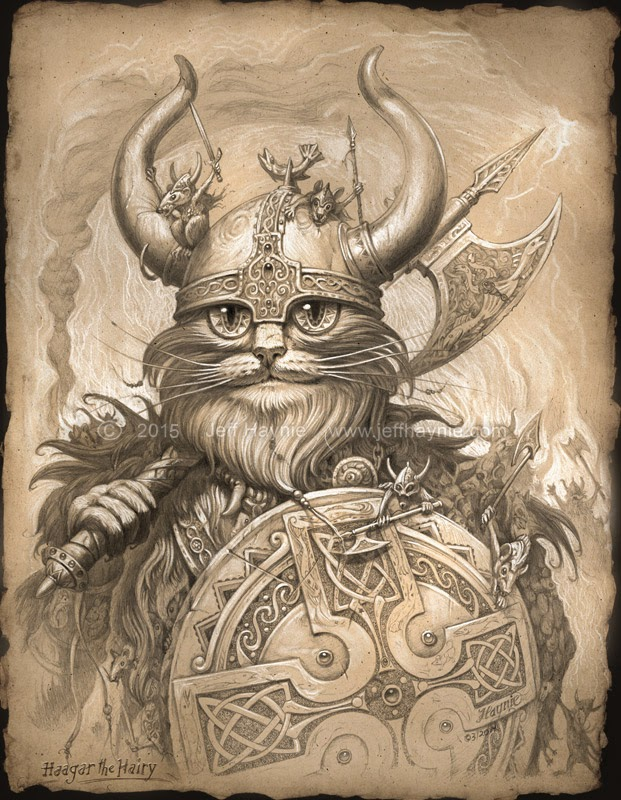 09-Haagar-Sepia-Jeff-Haynie-Cats in Drawings-Paintings-and-Jewelry-www-designstack-co