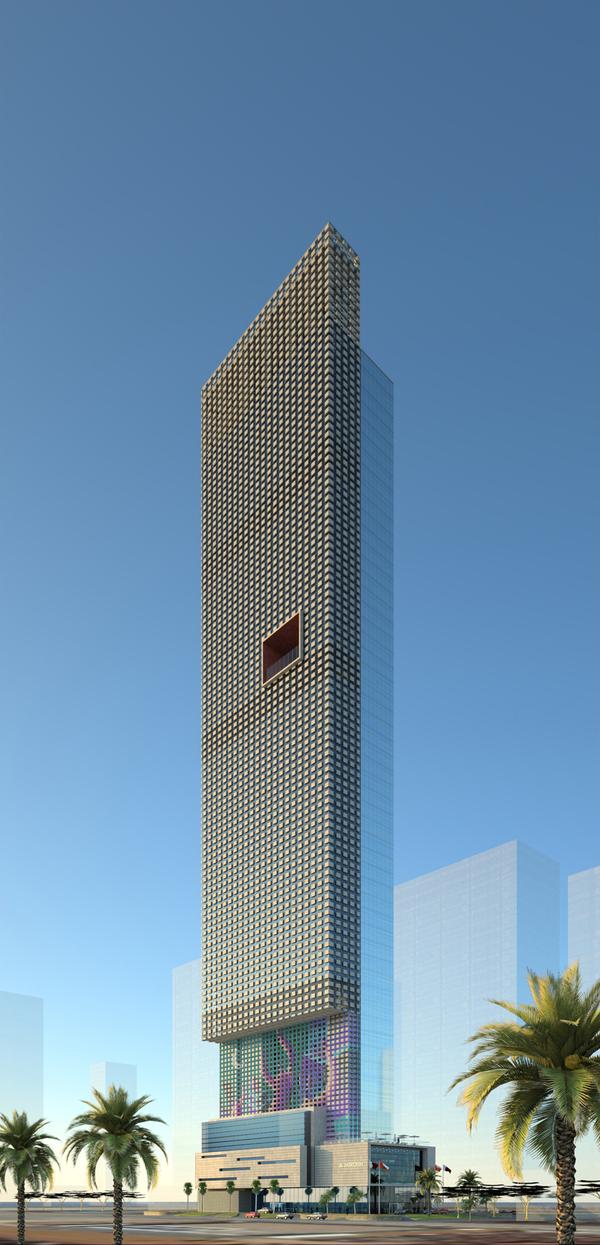 New architecture design city rmjm le meridien hotel for Design hotel qatar