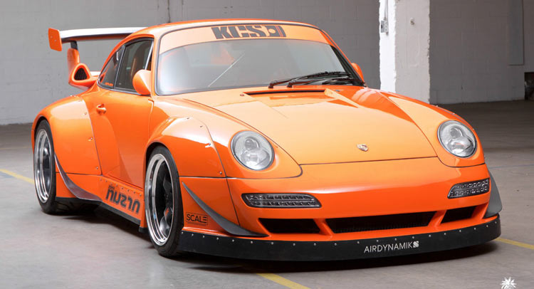 Crazy Widebody Corvette Powered 1995 Porsche 911 Hits Ebay