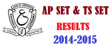 APSET & TS SET Results Rank Card Merit List 2014-2015