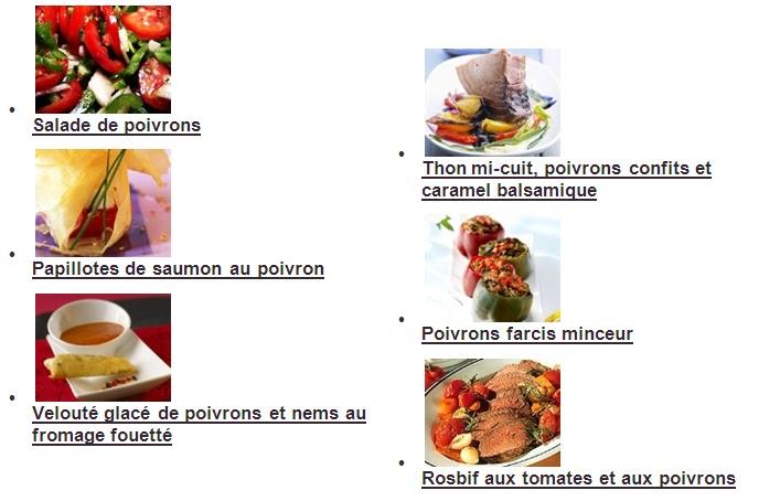 S 39 panouir pour bien grandir recettes de poivrons - Cuisiner les poivrons ...