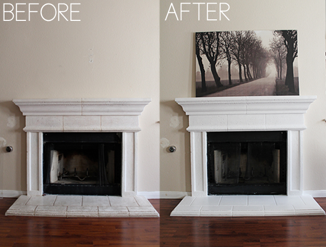 Cinsarah: Painting The Fireplace