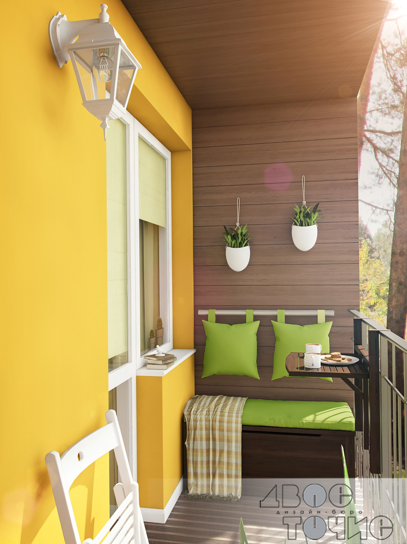 Фото отделки балкона цветами