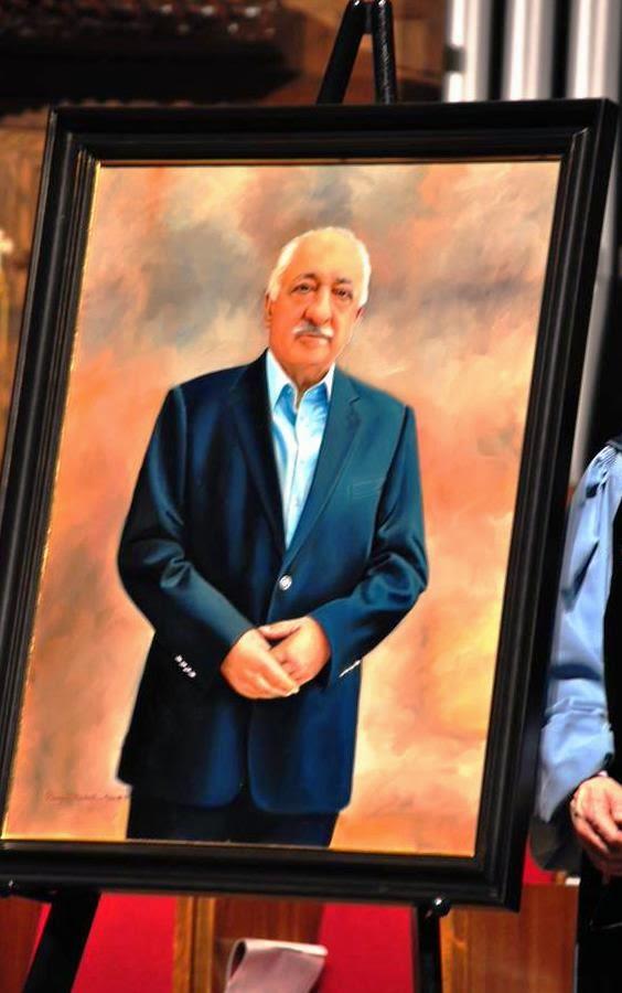 Canvas portrait of Fethullah Gulen