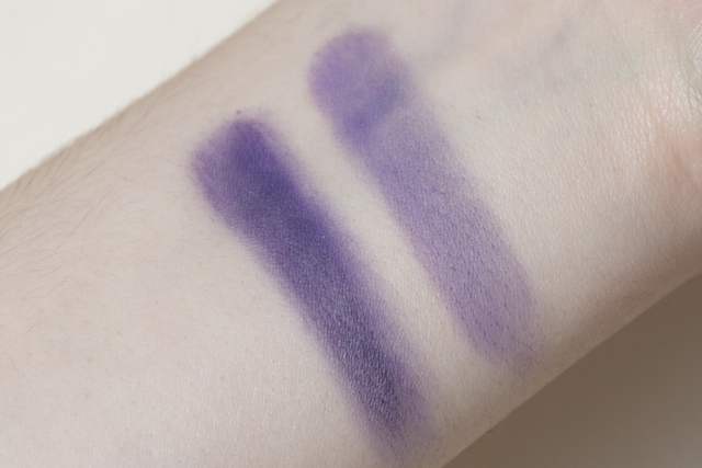concrete minerals pro matte eyeshadow eye shadow loose powder ravage purple swatch swatches