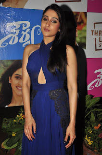 Regina Looks Beautiful and Cute in Blue Backless Cross Gown Sizzling Pics