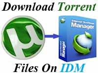 Download Torrent Files on IDM , Torrent Download With the Help Of IDM , Torrent , IDM Tips and Tricks