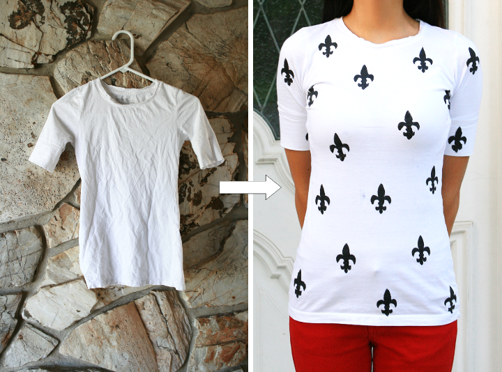 Diy Stained Shirt To A Printed Shirt Life Is Beautiful