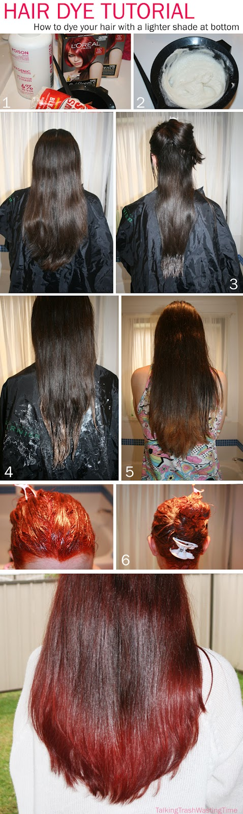 Hair Dye Tutorial  Dark To Light Shades Of Red  Now Thats Peachy