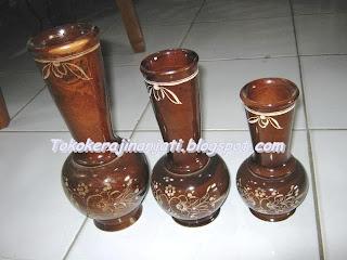 Vas Bunga Cubung Kayu Jati