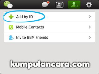WeChat Cara tambah teman dari ID Social