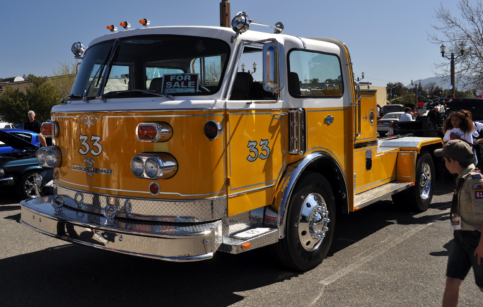 Just A Car Guy 1977 American Lafrance Firetruck Was At The Temecula Dodge Warlock Wiring Diagram Rod Run
