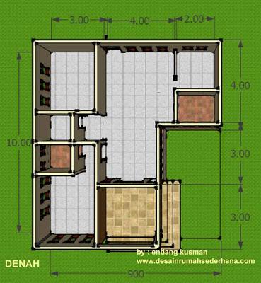 Desain Rumah Mungil Minimalis - Denah