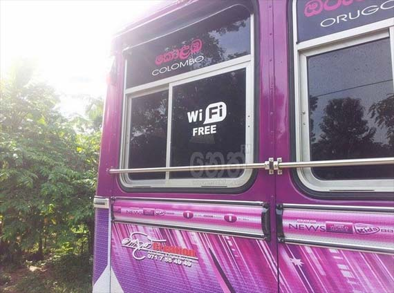 Purple Queen bus from Colombo with Mini Fridges & free Wi-Fi
