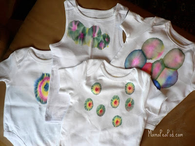 Gorgeous! DIY tie-dyed shirts with Sharpie markers - turned out great!