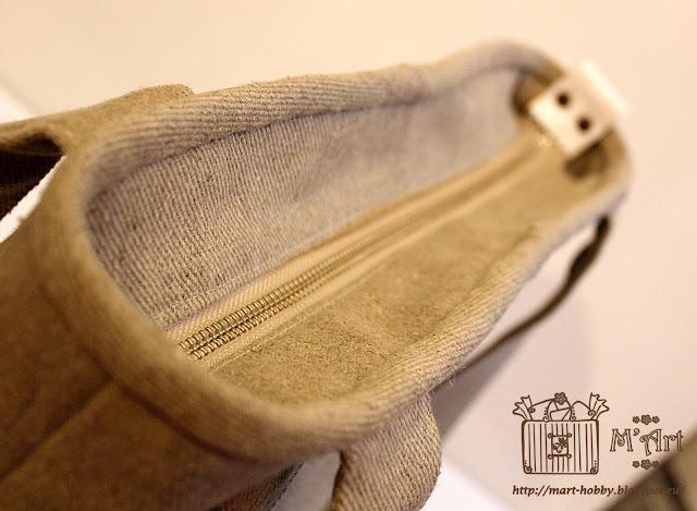 Верхний край сумки окантован косой бейкой