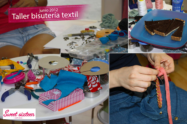 Taller Bisuteria Textil, Sweet sixteen, craft store, Madrid