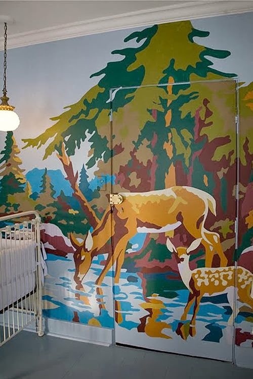 Mural Inspiration, forest mural