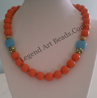 Coral beads Necklace jewelry