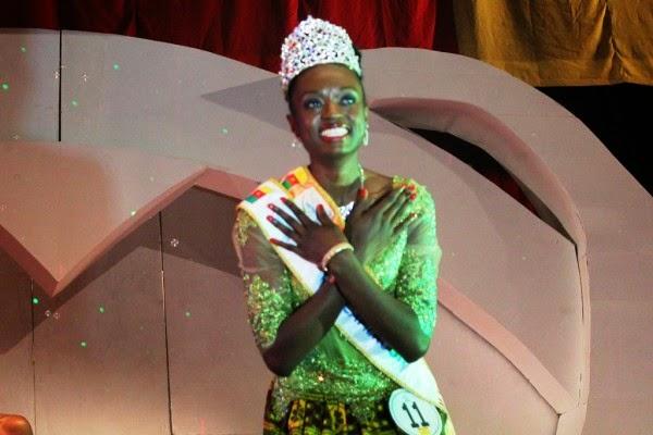 Miss Cameroon Cameroun 2014 winner Larissa Ngangoum
