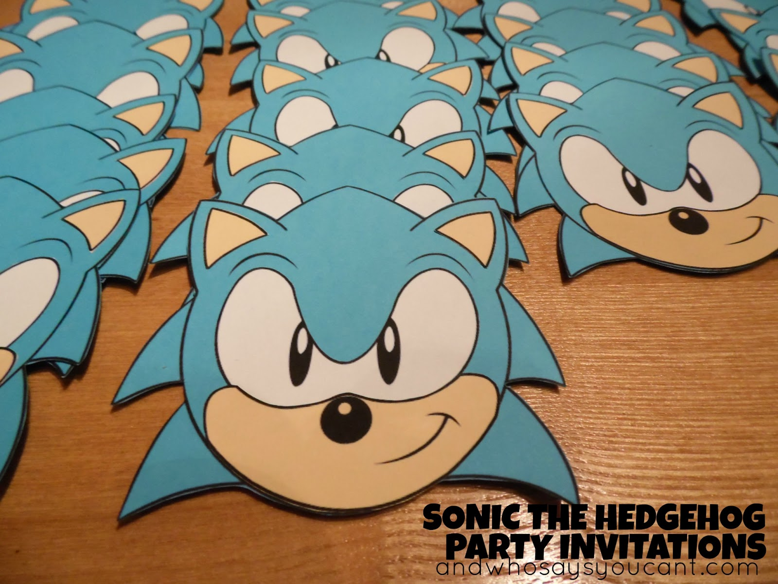 And Who Says You Cant SONIC THE HEDGEHOG BIRTHDAY PARTY INVITATION