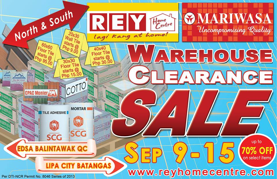 Ceramic Tiles   Home Finishing Mega Warehouse Clearance SALE  Sept 2013. Manila Shopper  Ceramic Tiles   Home Finishing Mega Warehouse