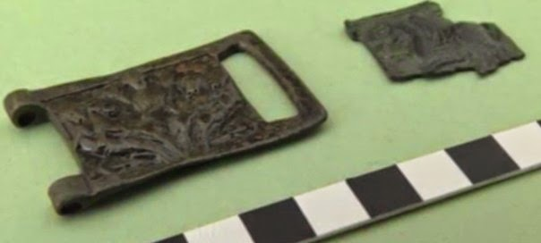 Medieval buckles with imperial symbols found in Bulgaria's Pliska